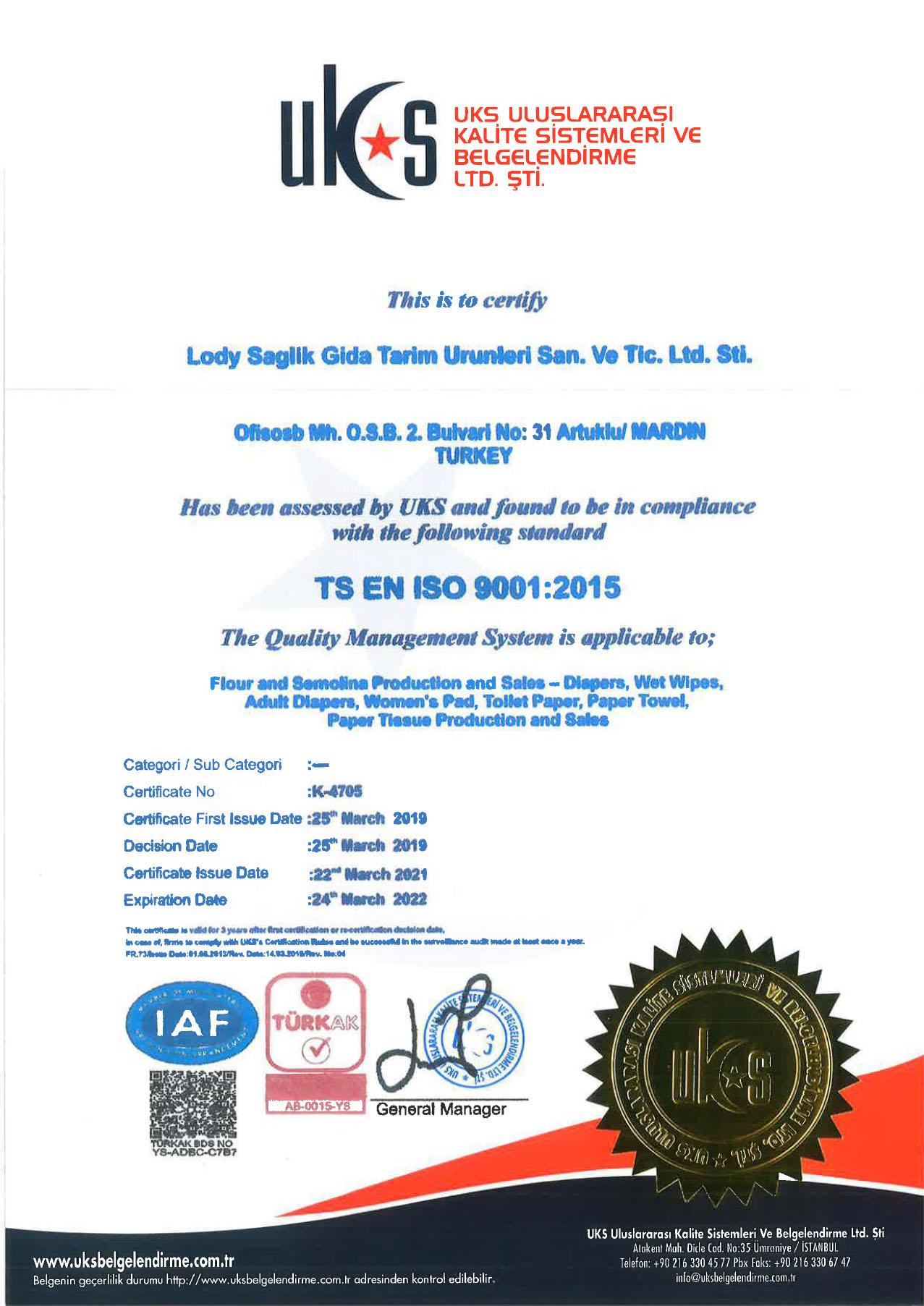 lody baby sertifikalar