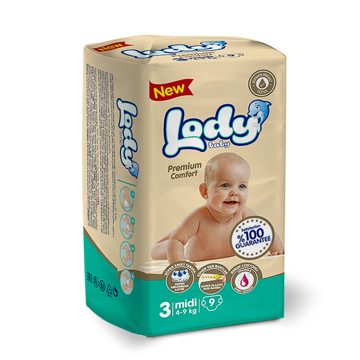 LODY BABY MIDI ( 4-9 Kg ) Küçük Paket