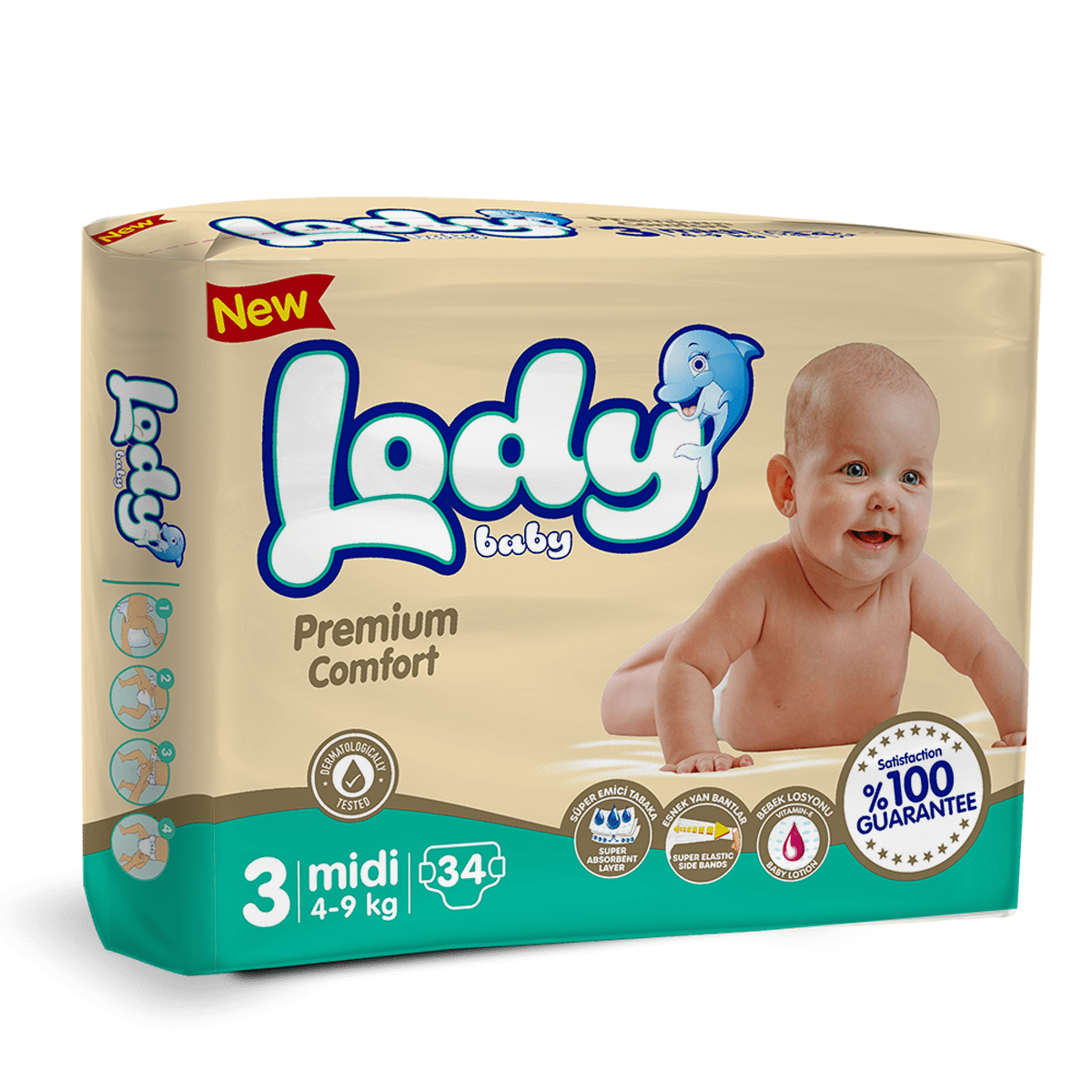 LODY BABY MIDI ( 4-9 Kg ) İkiz Paket