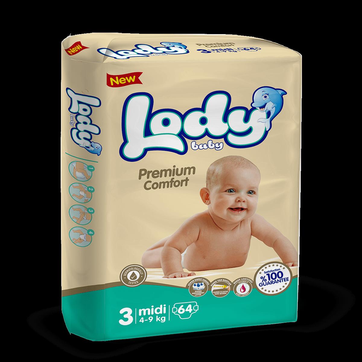 LODY BABY MIDI ( 4-9 Kg )Jumbo Paket