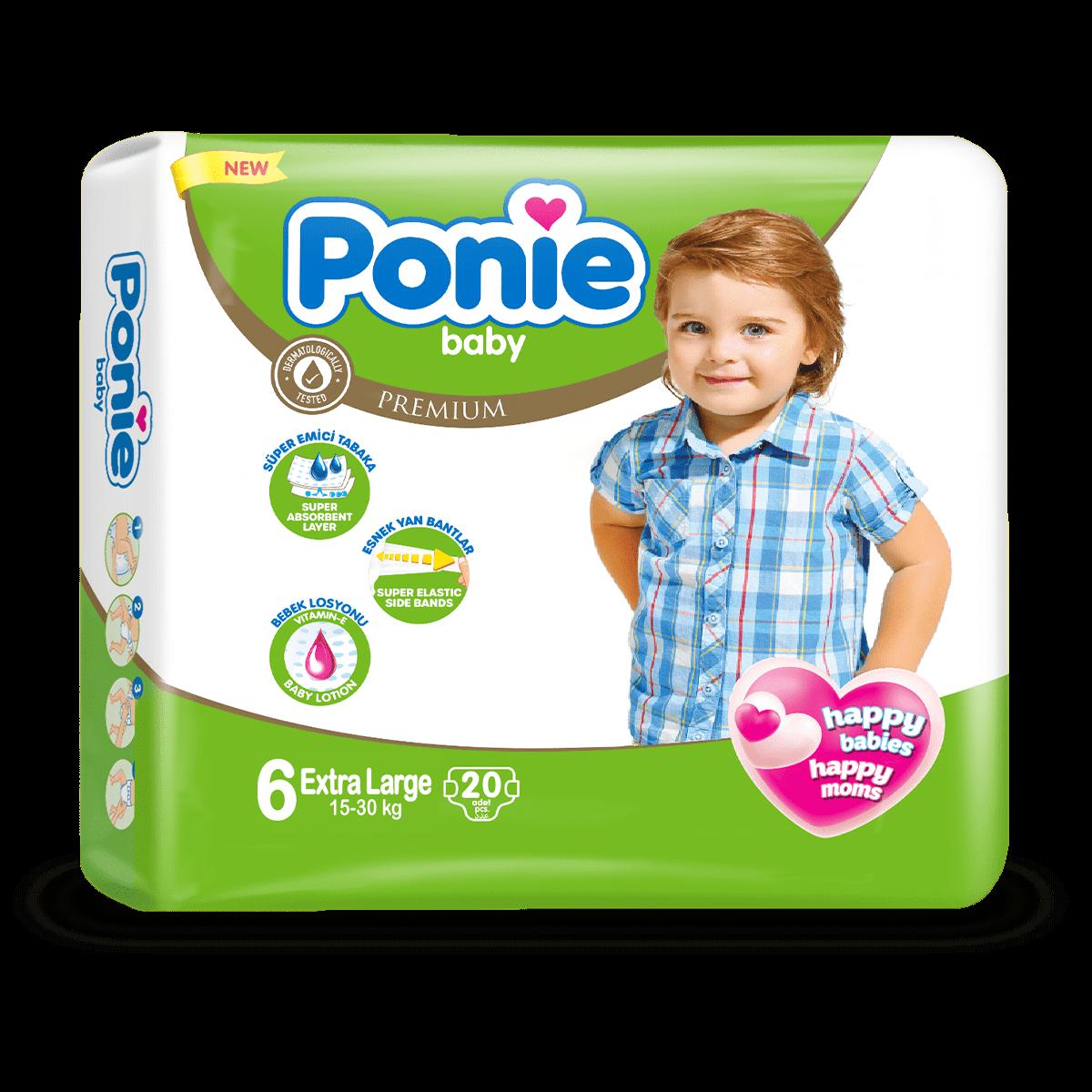 PONIE BABY XL ( 16 + Kg ) İkiz Paket